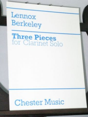 Berkeley L - Three Pieces for Clarinet Solo